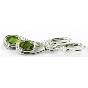 SE008, Peridot, 925 Sterling Silver Earrings