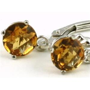 SE017, Citrine, 925 Sterling Silver Earrings