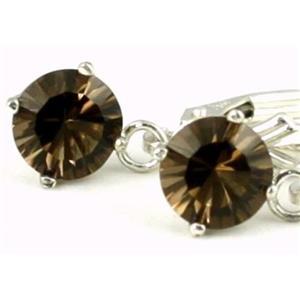 SE017, Smoky Quartz, 925 Sterling Silver Earrings