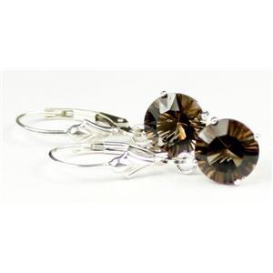 SE117, Smoky Quartz, 925 Sterling Silver Earrings