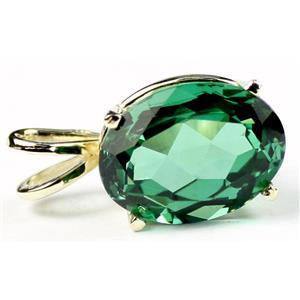 P006, Russian Nanocrystal Emerald, 14K Gold Pendant