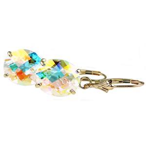 E107, Mercury Mist Topaz,14k Gold Earrings