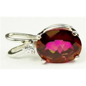 SP020, Crimson Fire Topaz, 925 Sterling Silver Pendant