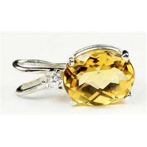 SP020, Citrine, 925 Sterling Silver Pendant