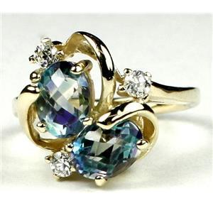 R016, Neptune Garden Topaz, Gold Ring