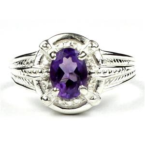 SR284, Amethyst, 925 Sterling Silver Ring
