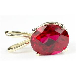 P002, Created Ruby 14k Gold Pendant