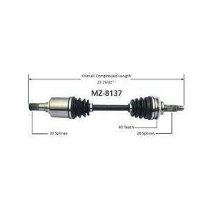Brand New Driver Side CV Drive Axle Shaft Will Fit Mazda 6 03-04