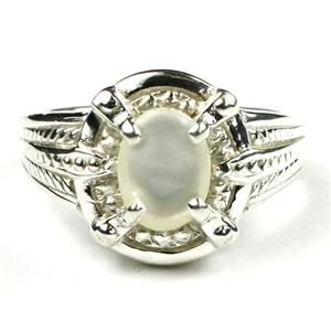 SR284, Mother of Pearl, 925 Sterling Silver Ring