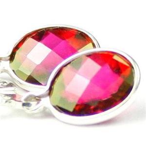 SE001, Crimson Topaz, 925 Sterling Silver Earrings
