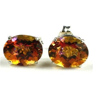 Twilight Fire Topaz 925 Sterling Silver Earrings, SE102