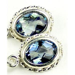 SE006, Neptune Garden Topaz, 925 Sterling Silver Rope Earrings