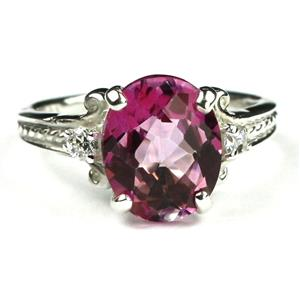 SR136, Pure Pink Topaz, 925 Sterling Silver Ring