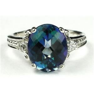 SR136, Neptune Garden Topaz, 925 Sterling Silver Ring
