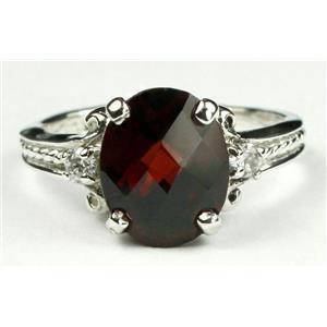 SR136, Mozambique Garnet, 925 Sterling Silver Ring