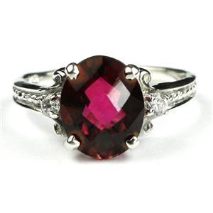 SR136, Crimson Topaz, 925 Sterling Silver Ring