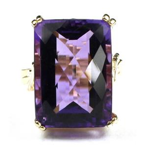 R039, Amethyst, Gold Ring