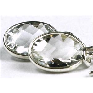 SE005, Silver Topaz, Sterling Silver Threader Earrings