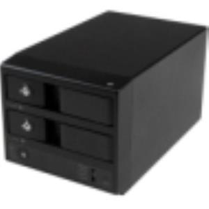 StarTech.com eSATA Dual-Bay Trayless SATA III Hard Drive Enclosure S352BU33RER