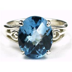 SR139, Swiss Blue Topaz, 925 Sterling Silver Ring