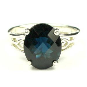 SR139, London Blue Topaz, 925 Sterling Silver Ring