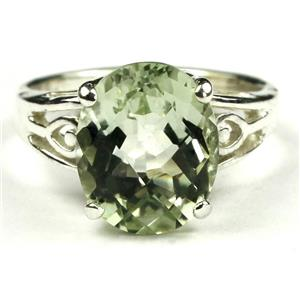 SR139, Green Amethyst, 925 Sterling Silver Ring