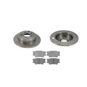For 2006-2018 Toyota Rav4 Rear Brake Disc Rotors & Ceramic Pads 3 PCS