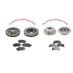 Fits 1992-1999 Toyota Camry 4 Cly F & R Brake Rotors and Ceramic Pads