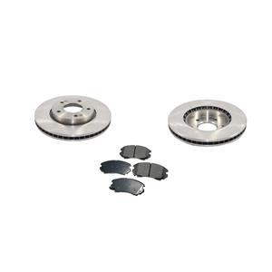 10-11 Soul 1.6L Base (2) Front Brake Rotors & Ceramic Front Pads 121.50026 CD924