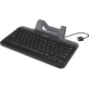 Belkin Wired Tablet Keyboard Stand Cable Docking Port iPad Tablet B2B131