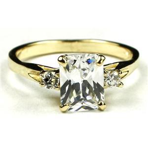 R171, Cubic Zirconia, Gold Ring
