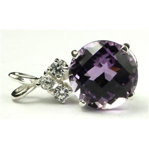 SP087, Amethyst 925 Sterling Silver Pendant
