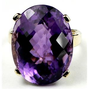 R217, Brazilian Amethyst, Gold Ring