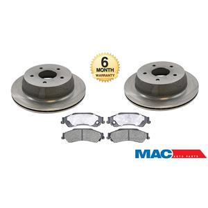 Fits GM SUV & S10 2 Wheel Drive REAR 55049 Disc Brake Rotor & Ceramic Rear Pads