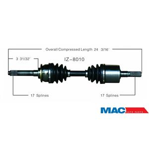 SurTrack IZ-8010 CV Axle Shaft - New, Front Right Isuzu Vehicross 99-01