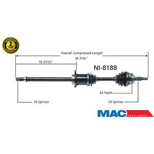 Front Passenger Side CV Shaft Fits ALTIMA 02-06 & MAXIMA 04-06 3.5L M/T
