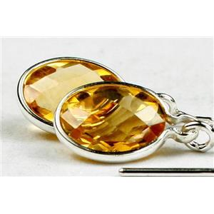 SE005, Citrine, 925 Sterling Silver Earrings