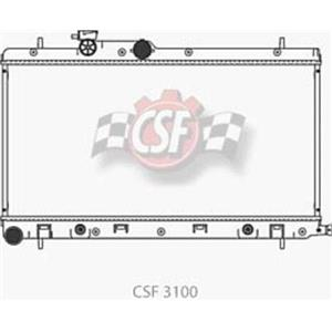 CSF 3100 Radiator - 1 Row Plastic Tank Aluminum Core Legecy Outback Baja