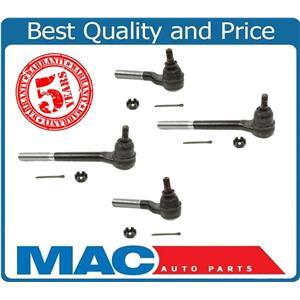S10 Blazer Bravada Sonoma 4X4  4 Tie Rod Rods 1998 to 2004  2 Inners + 2 Outers
