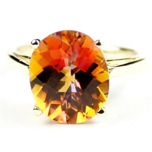 R055, Twilight Fire Topaz, Gold Ring