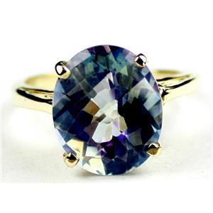 R055, Neptune Garden Topaz, Gold Ring