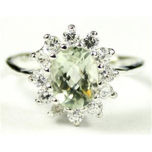 SR235, Green Amethyst, 925 Sterling Silver Ring