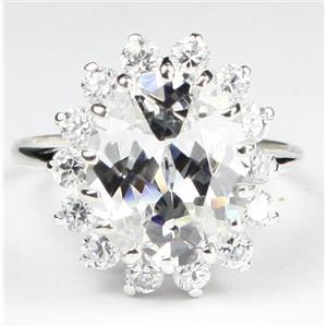 SR283, Cubic Zirconia CZ, 925 Sterling Silver Ring