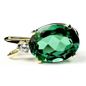 P018, Russian Nanocrystal Emerald, 14K Gold Pendant