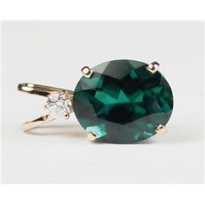 P022, Hydrothermal Emerald, 14K Gold Pendant