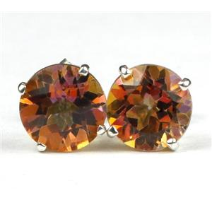 SE112, Twilight Fire Topaz 925 Sterling Silver Earrings