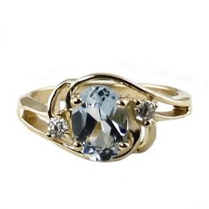 R176, Aquamarine, Gold Ring