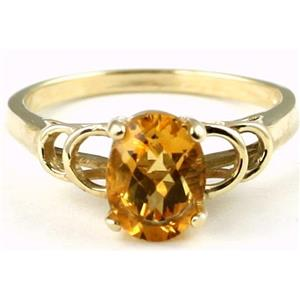 R300, Citrine, Gold Ladies Ring