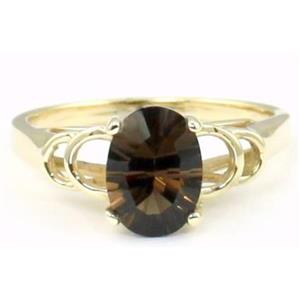 R300, Smoky Quartz Gold Ring