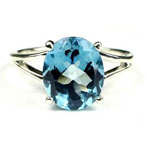 Swiss Blue Topaz, 925 Sterling Silver Ring, SR132